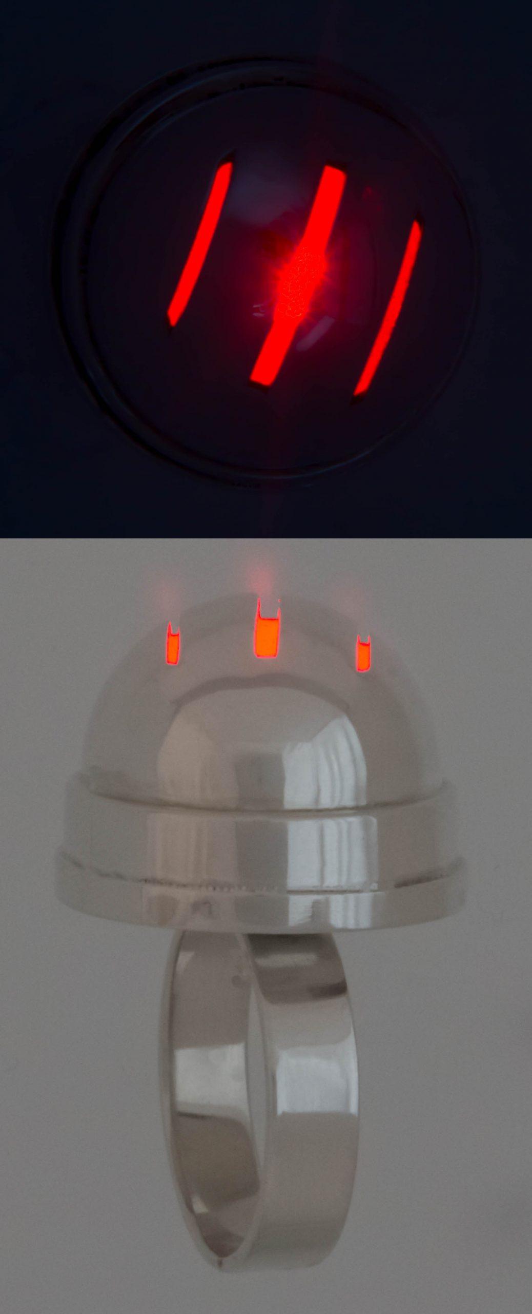 Zilver met LED