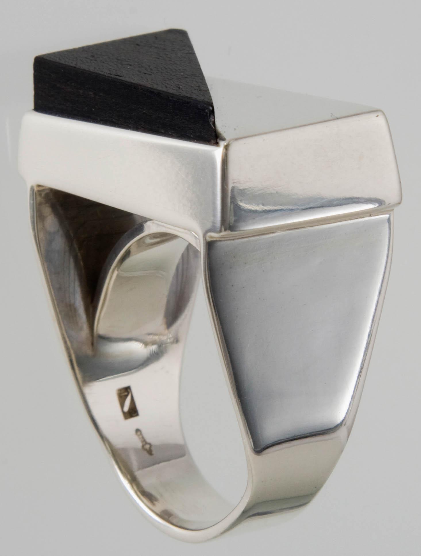 Zilver met ebbenhout